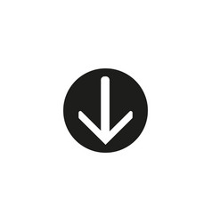 download icon circle flat design internet vector image