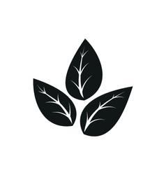 Eco icon leaf vector image