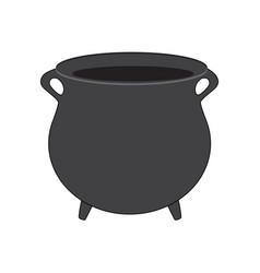 empty witch cauldron pot cartoon isolated on vector image
