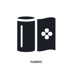 Fabric isolated icon simple element from sew vector