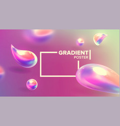 fluid liquid abstract background curve vector image