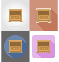 furniture flat icons 32 vector image