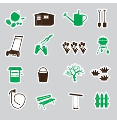 Garden symbols stickers eps10 vector