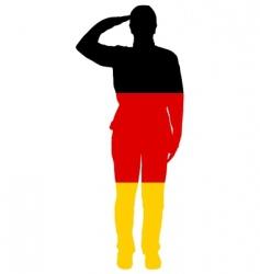 German salute vector image