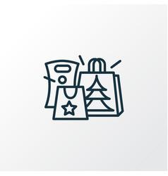 gift paper bag icon line symbol premium quality vector image