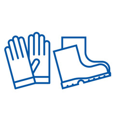 Gloves and boots icon vector