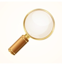Gold Magnifying Glass vector