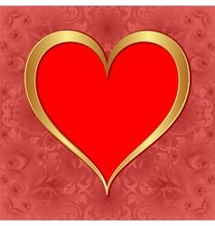 Golden heart vector