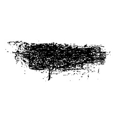 grunge brush stroke ink vector image