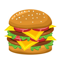 hamburger symbol icon design vector image