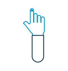 hand pointer gesture symbol icon vector image