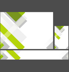 hi-tech corporate abstract background set vector image
