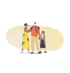 Interracial parents and kids multicultural vector