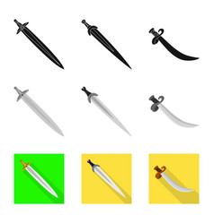 isolated object of game and armor symbol vector image