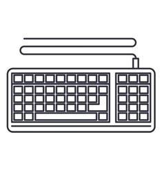 Keyboard computer isolated icon vector