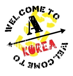 Korea stamp rubber grunge vector