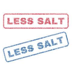 Less salt textile stamps vector