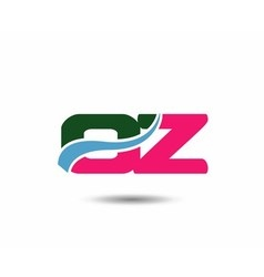 Letter o and z logo vector image