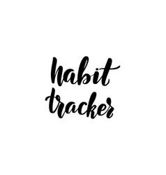 Lettering habit tracker vector