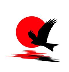 logo flying bird vector image