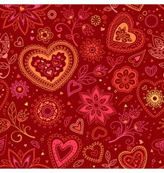 love hearts seamless pattern 2 vector image