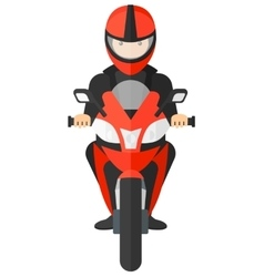 Man riding motorcycle vector image