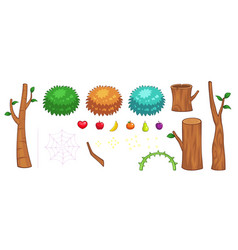 Miscellaneous jungle items game sprites vector