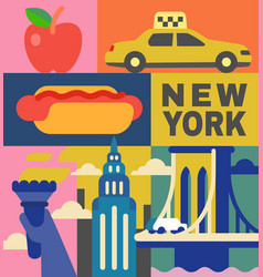 new york culture travel set vector image