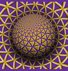 Optical illusion yellow purple vector