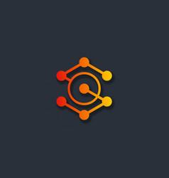 orbit connect letter s logo vector image