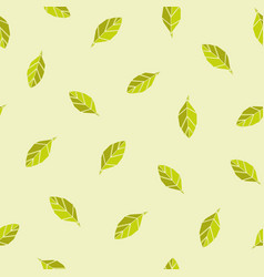 origami leaves lightgreen seamless repeating vector image