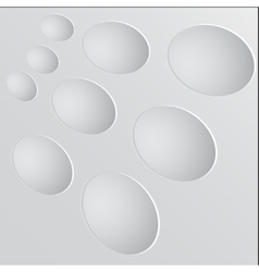 Paper circle banner with drop shadows vector image