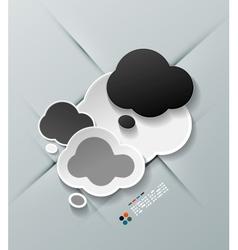 Paper cloud modern design vector image
