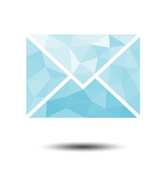 polygon envelope mail icon on white background vector image