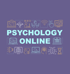 Psychology online word concepts banner vector