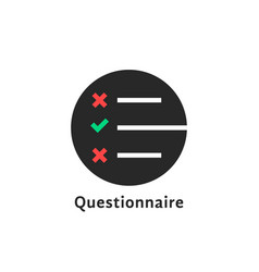 Round simple questionnaire logo vector