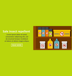 Sale insect repellent banner horizontal concept vector