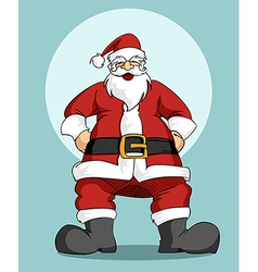 Santa Claus Christmas greeting card vector