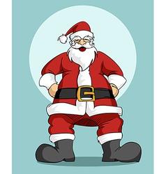 Santa claus christmas greeting card vector