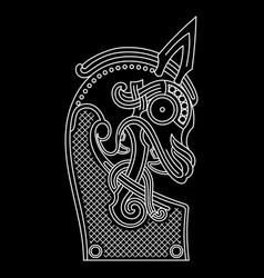 scandinavian design nasal figure the vector image