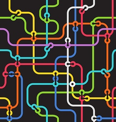 Seamless background of abstract metro scheme vector