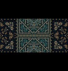 seamless pattern based on ornament paisley bandana vector image