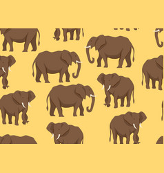seamless pattern with of elephants vector image