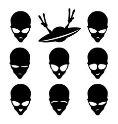 set of space aliens vector image