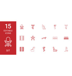 Sit icons vector