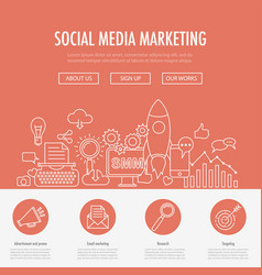 Social media marketing landing vector