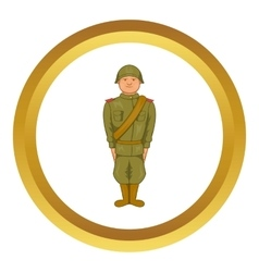 Soviet uniform of World War II icon vector