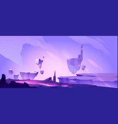 Space background with landscape alien planet vector
