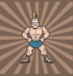 sparta trojan cartoon character vector image