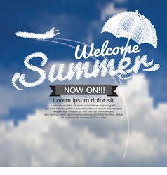 Summer Travel Concept Banner vector image